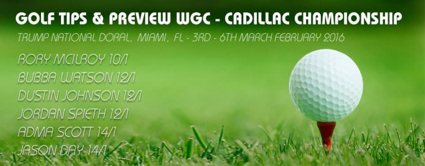 wgc cadillac championship golf betting tips and preview 2016. Cars Review. Best American Auto & Cars Review