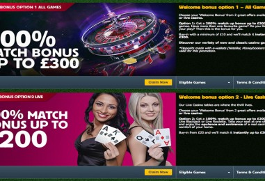 Betfair Casino £300 Welcome Bonus