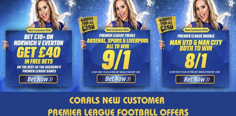 Corals Premier League New Customer Football Offers 12/12/15
