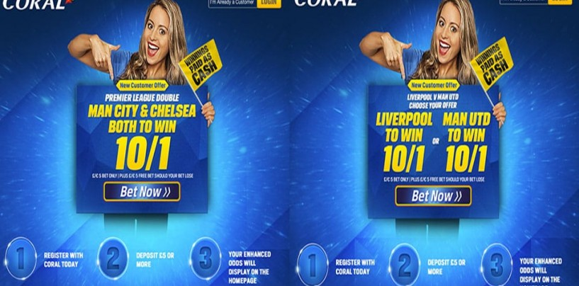 Corals Enhanced Price Offers Liverpool v Manchester United 10/1