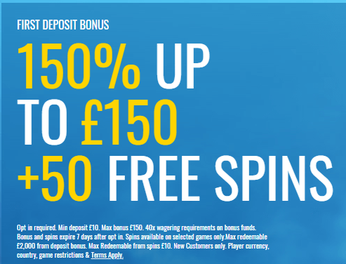 William Hill Casino Club First Deposit Bonus