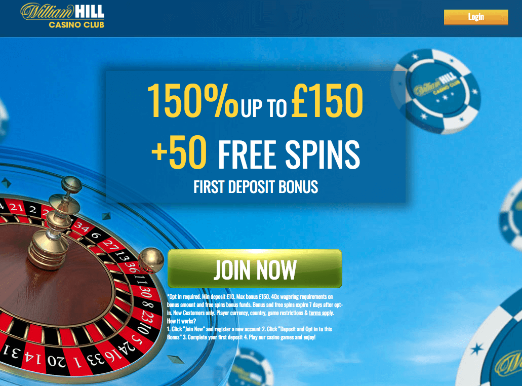 william hill casino 50 free spins existing customers