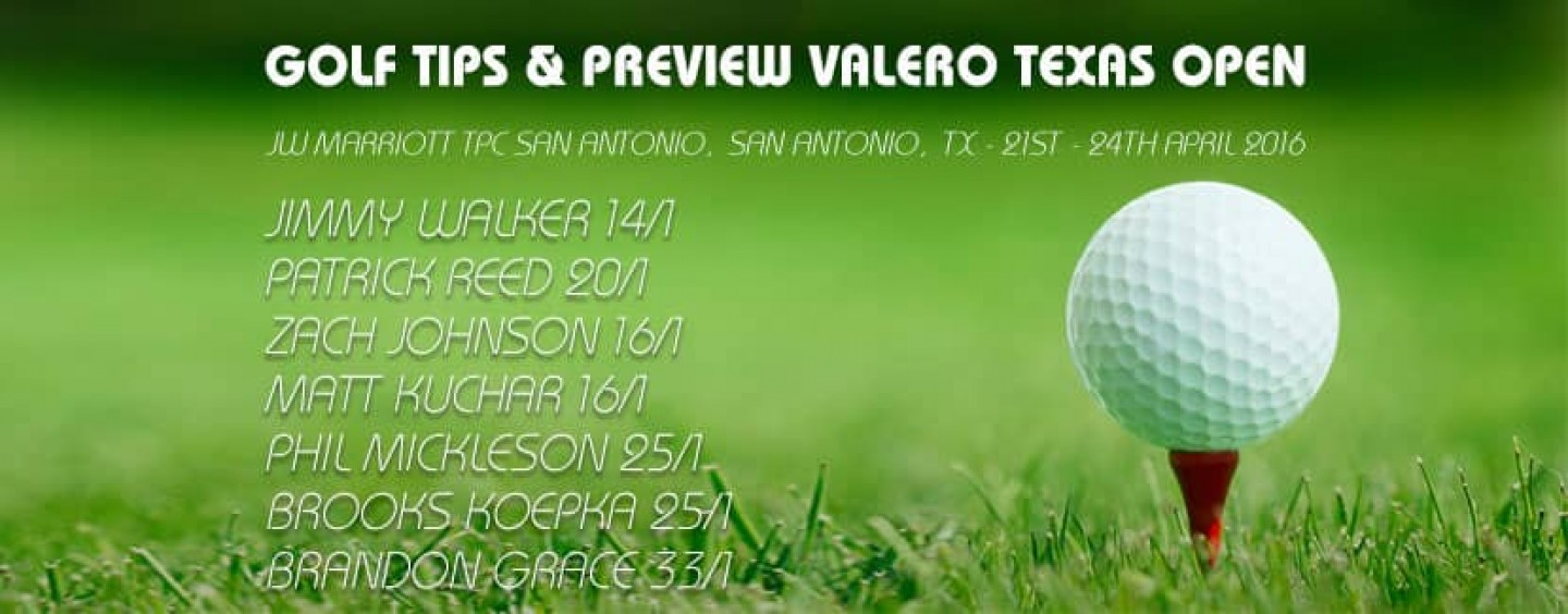 Valero Texas Open Golf Betting Tips & Preview 2016