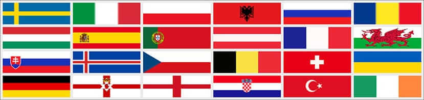 Image of Euro 2016 Flags