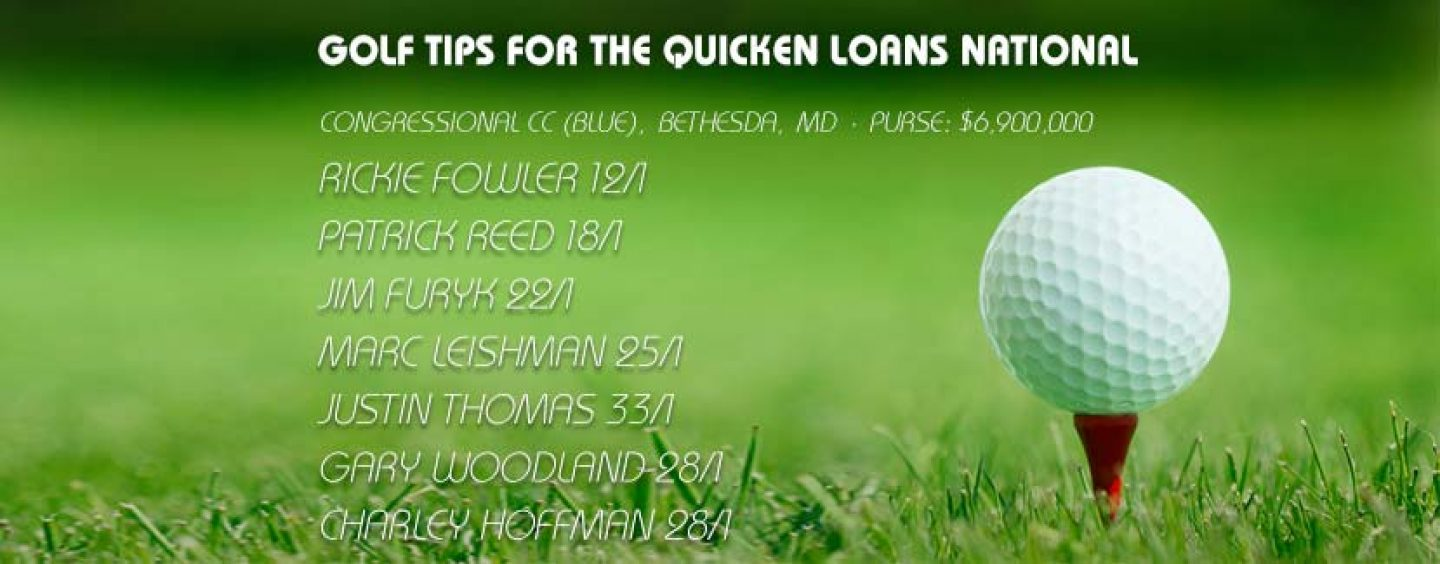 Quicken Loans National Golf Betting Tips & Preview 2016