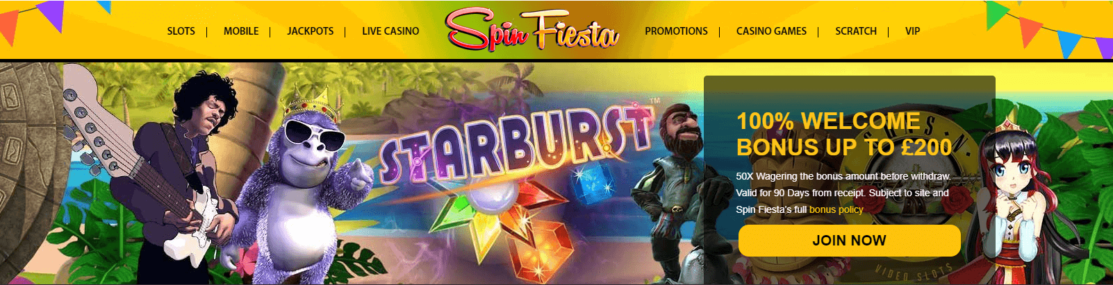 Spin Fiesta Welcome Offer