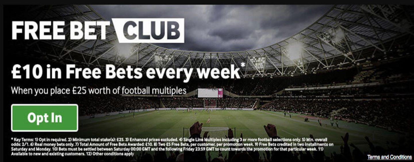 Betway Free Bet Club Offer