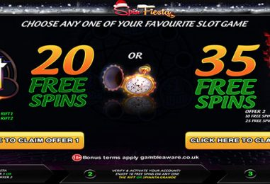 Spin Fiesta Christmas Free Spins Offer