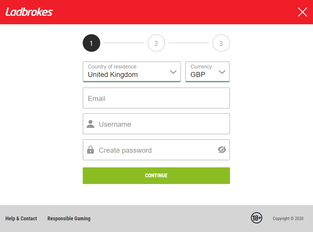 Ladbrokes Casino Registration